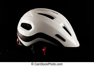 White Bicycle Bike Safety Helmet
