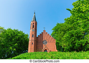picture of an old church in Sassnitz, Ruegen, Germany