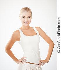 woman in sportswear - picture of beautiful athletic woman in...
