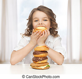 girl with junk food - picture of beautiful girl with junk ...