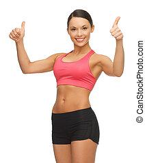 beautiful sporty woman - picture of beautiful sporty woman...
