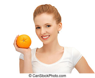 teenage girl with orange