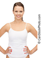 beautiful woman in cotton underwear