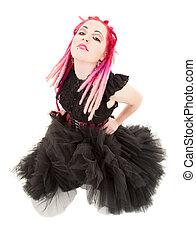 pink hair girl