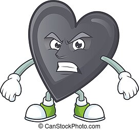 Picture of black love cartoon character with angry face