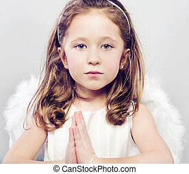 Picture of calm little girl
