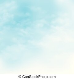 Picture of clouds on the blue sky background.