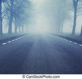 Picture of evening empty road - Photo of evening empty road