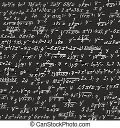 picture of formulas written on a blackboard