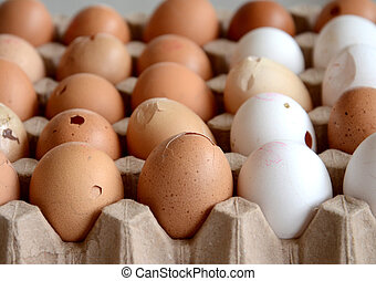 Eggs for sale on a market
