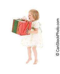 girl with gift box