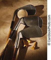Golf club,ball,and tee