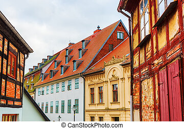picture of historic buildings in Wolgast, Mecklenburg Western Pomerania, Germany