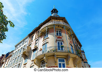 historical building in the old town of Strasbourg, France