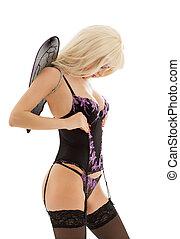 lingerie angel girl in stockings