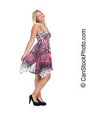 lovely teenage girl in elegant dress - picture of lovely ...