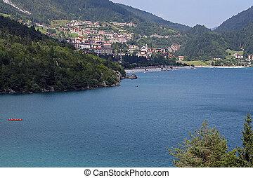 Molveno lake during summer