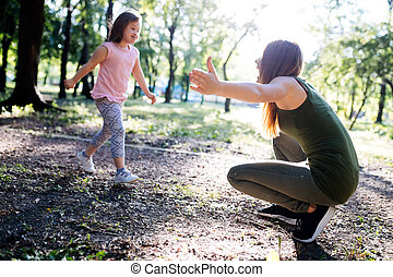 Picture of mother and child with special needs - Picture of...