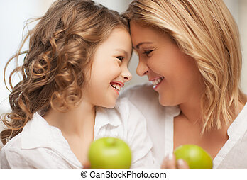 mother and daughter - picture of mother and daughter with...