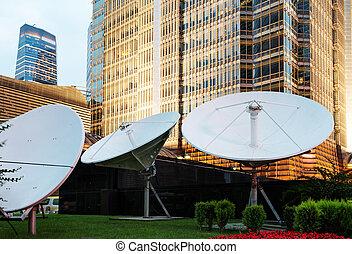 satellite dish - picture of parabolic satellite dish space...