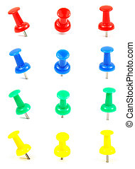 pushpin  - Picture of pushpin with white background.