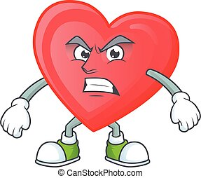 Picture of red love cartoon character with angry face