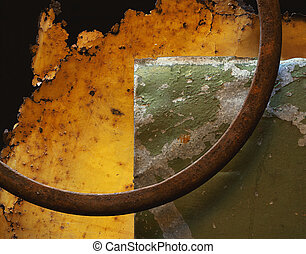 Rusty Metal and Circle