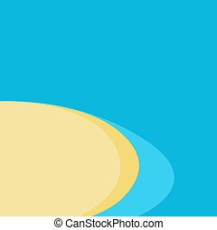 Picture of sea beach with sand. Vector illustration.