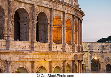 Colosseum - Picture of the Colosseum in Rome, Italy, in the...