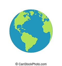 picture of the earth on a white background