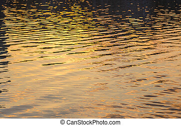 picture of the surface water in sunset