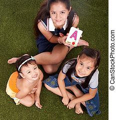 picture of three children