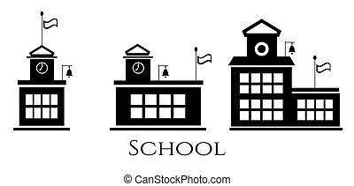 Picture of three school buildings