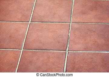 Picture of tiling for terraces - Picture of red tiling for...