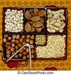 Tray of Nuts - Picture of Tray of Nuts