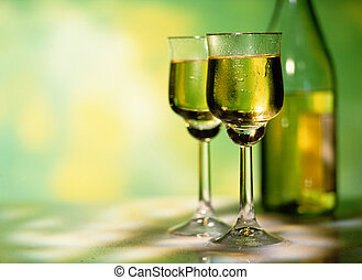 Two Glasses of White Wine - Picture of Two Glasses of White ...