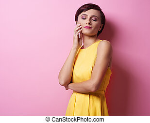 Picture of woman with closed eyes