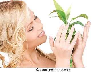 picture of woman with sprout