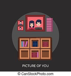 Picture Of You Conceptual illustration Design