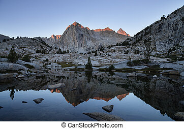 Picture Peak Reflection - reflection of Picture Peak in the...