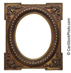 Picture photo frame to put your own pictures in (isolated with clipping path)