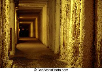 Picture presenting empty corridor