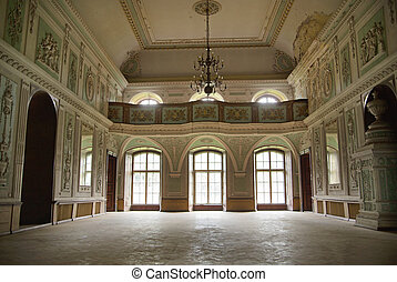 Picture presenting interior of the palace