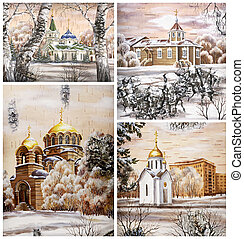 Russia, Novosibirsk, churchs - Picture. Russia, Novosibirsk...