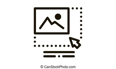 picture size increase Icon Animation. black picture size increase animated icon on white background