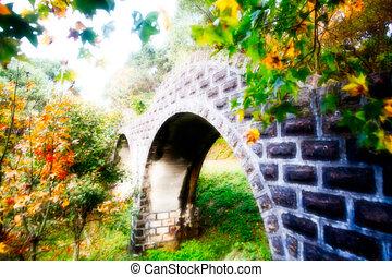 Picture style stone make bridge