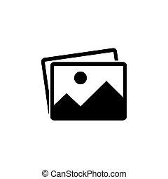 Picture vector icon, image symbol.