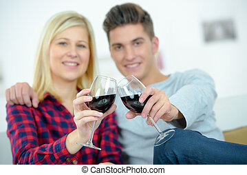 picture with a glass of wine
