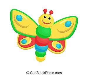 Picture with Colorful Toy of Laughing Butterfly