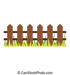 picture wooden fence and grass design